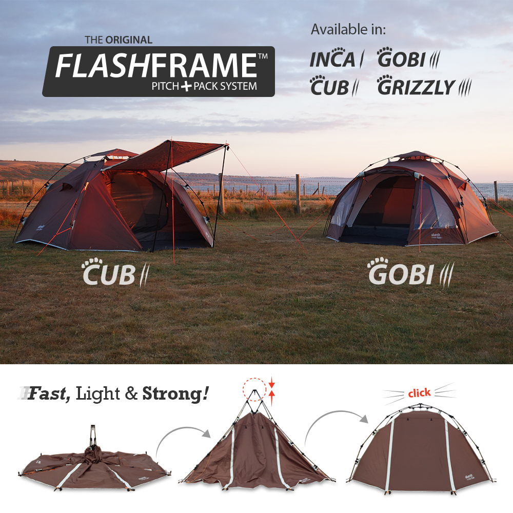 All-New Slumit GOBI 3 Man Tent ...  sc 1 st  Slumit & All-New Slumit GOBI 3 Man Tent with FlashFrame Pitch + Pack System ...
